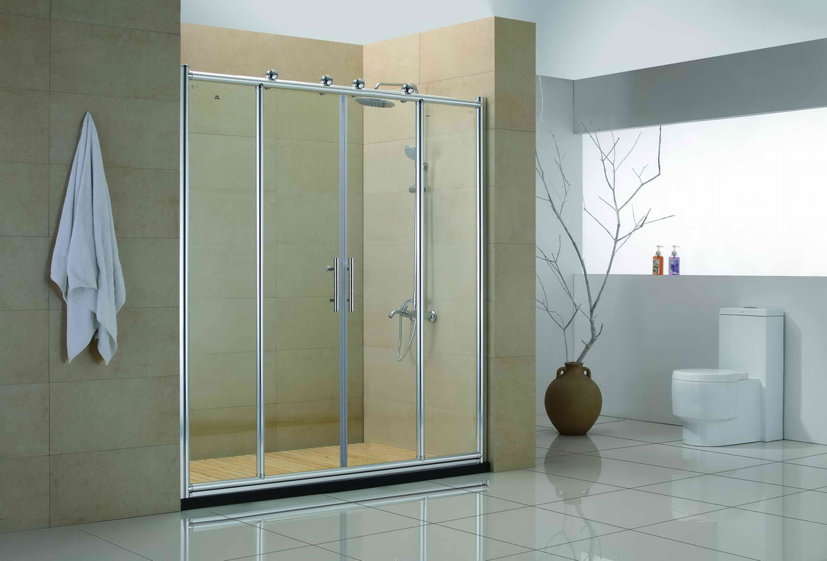 Glass For Bathroom Door Glamour Green Glass Door For Exciting Home Design